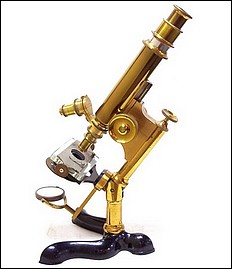 Bausch & Lomb Optical Co., Pat. Oct. 3, 1876, Serial No. 2188. The Physician's model microscope (second form), c. 1883