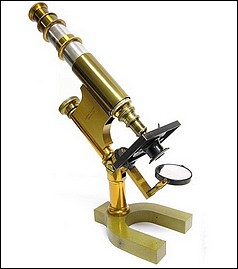 Bausch & Lomb Harvard Model microscope, No. 3729, inclinable. c. 1888