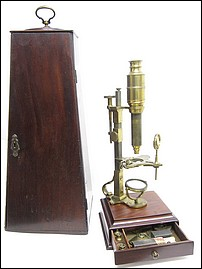 Dollond London, Cuff's New Constructed Double Microscope, c. 1770