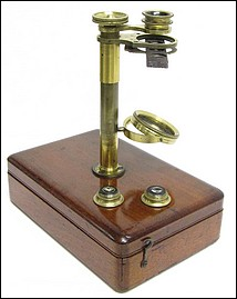 Case mounted English botanical microscope, 1840