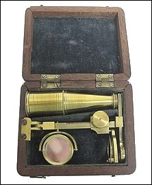 Folding Cary-Gould type pocket microscope, c.1828