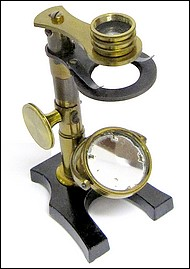 French botanical or entomological microscope, c. 1880
