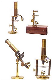 A group of French microscopes c.1860