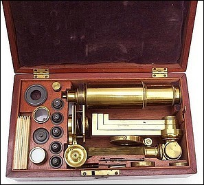 An Improved model microscope with early Canadian history, c. 1835