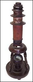 Nuremberg toy Culpeper style microscope. c. 1800 signed IM.