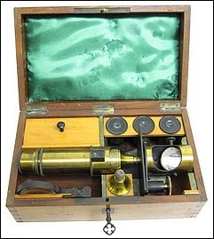 G.Oberhaeuser, Place Dauphine, Paris. #1812. Small Drum microscope, c. 1850