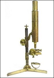 Plossl in Wien. Non-inclining Large Microscope, c. 1845