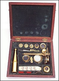 Porter and Hunt, London case-mounted microscope. c, 1830