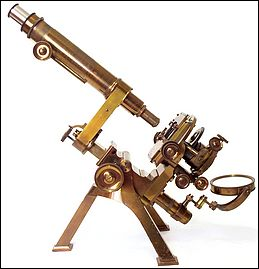 Powell & Lealand, Elmsdale, Greenham Road, Muswell Hill N., Late of 170 Eustan Road N. W. The monocular No.1 microscope dated 1908