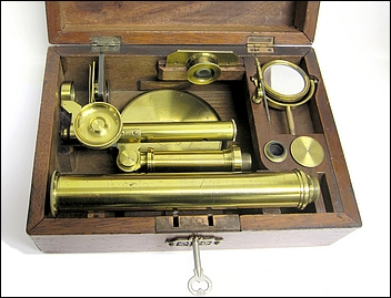 Pritchard Type Student Microscope. English, unsigned, c. 1850