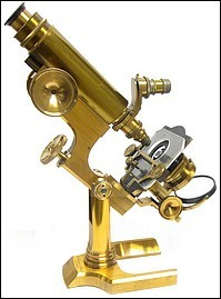 L. Schrauer, Maker, New York. Large continental style microscope, c. 1880