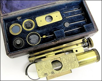 James Swift & Son, University St. London. Blankley's Small Pocket Microscope - The Seaside Microscope, c. 1879