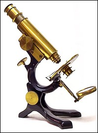 Geo. Wale, Pat. App. for. The New Working MIcroscope, c. 1880