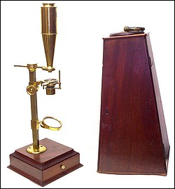 Bate London, Jones Improved type microscope, c. 1820
