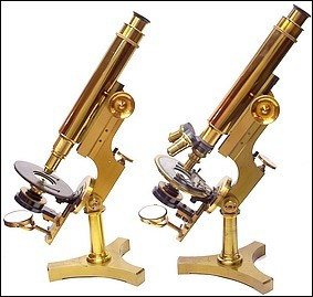 James W. Queen & Co., Phila. (no serial number. The Acme No. 3 Model Microscope. c. 1890