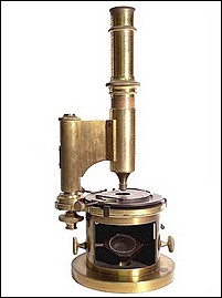 Signed: Made expressely for C. Duhamel, Optician, new-Orleans. Massive French drum microscope. c. 1850