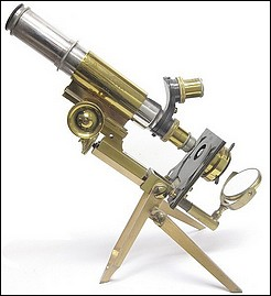 J. Swift & Son, No. 438. Military Portable, agents Hughes Owens Co. (Portable Clinical and Field Microscope)