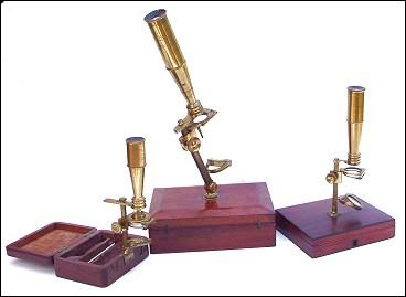 Group of Cary type microscopes c. 1830-1840