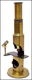 French Drum Microscope, c. 1865. Trade Label of James Foster Jr., Mathematical & Philosophical Instrument Maker, Cincinnati
