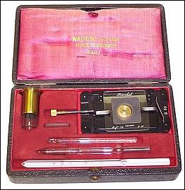 Nachet & Fils, 17 rue St. Severin, Paris. Hayem-Nachet Hemocytometer, c. 1890