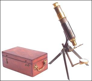 Portable microscope: James W. Queen & Co., Phila.. The Tourist model.