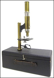 The Gundlach Manhattan Optical Co. The Simplex Model, c. 1910. Case mounted microscope