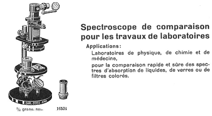 Carl Zeiss, Jena Nr. 39881. Comparison Spectroscope _catalog-mess485