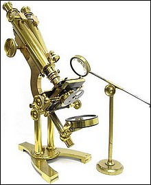binocular microscope, J.B. Dancer Optician No. 371 Manchester