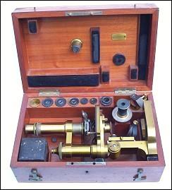 monocular microscope, E. Leitz, Wetzlar, No. 6097, c.1884 , Stativ Nr. 1b