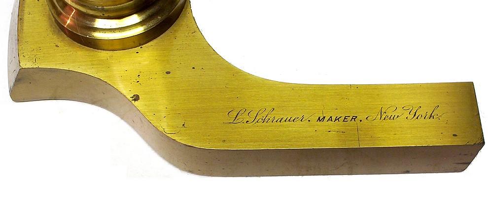 signature: L. Schrauer, Maker, New York