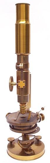 istor  &  Martins, Berlin, No. 667. Monocular microscope: c.1860