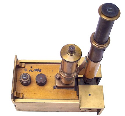 Nachet Opticien, rue Serpente 16, Paris. Pocket microscope, c. 1853