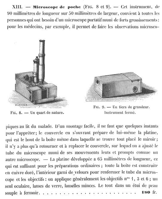 Nachet Opticien, rue Serpente 16, Paris. Pocket microscope, c. 1853