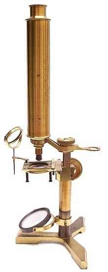 Andrew Pritchard, 162 Fleet Street, London monocular microscope c.1845