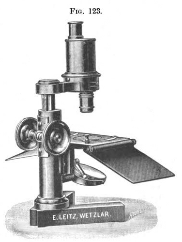 Pfeiffer's New Preparation Microscope