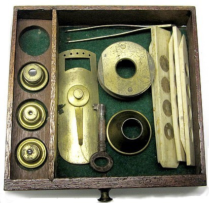 accessories for the Adams Culpeper type microscope