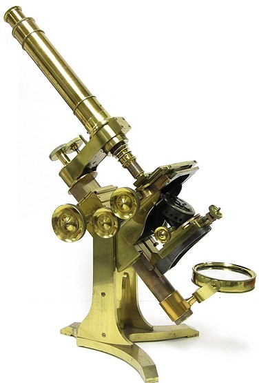 A. Ross, London #599. Large Bar-limb Microscope by Andrew Ross, c. 1855