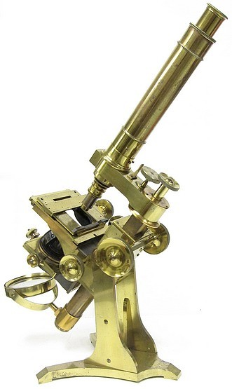 A. Ross, London #599. Large No.1 Bar-limb Microscope by Andrew Ross, c. 1855