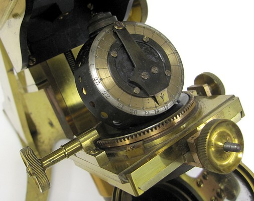 A. Ross, London #599. Large Bar-limb Microscope by Andrew Ross, c. 1855. Gillett's condenser