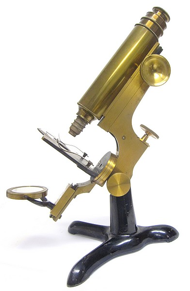 Leopold Schrauer, New York (attributed) unsigned microscope, c. 1880