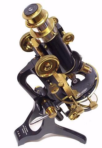 c. baker 244 high holborn london serial 6389. the rms model microscope