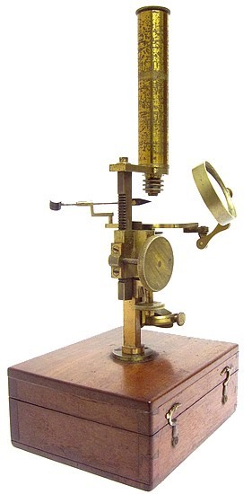 Brunner à Paris, 34 Rue des Bernardins. Gruby Type Pocket Microscope, c. 1844
