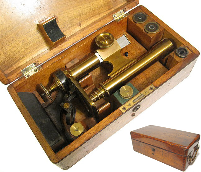 microscope stored in the case