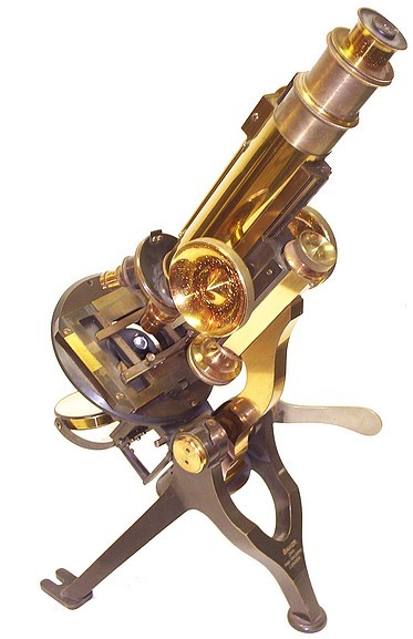 Baker 224 High Holborn London. The small Nelson model microscope