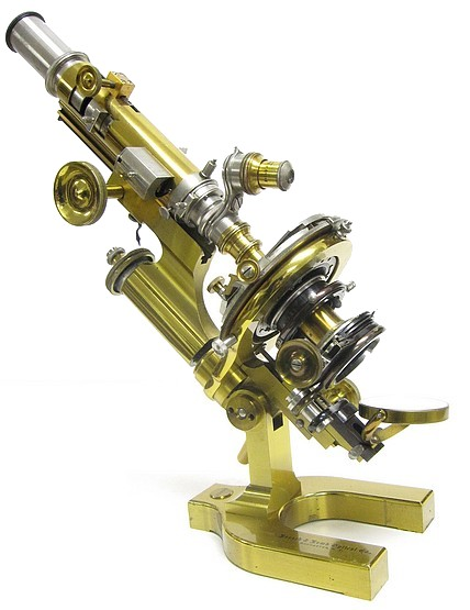 Bausch & Lomb Optical Co., Rochester N.Y. #36575. Petrographical (Petrological) Microscope. Stand LC, c. 1902