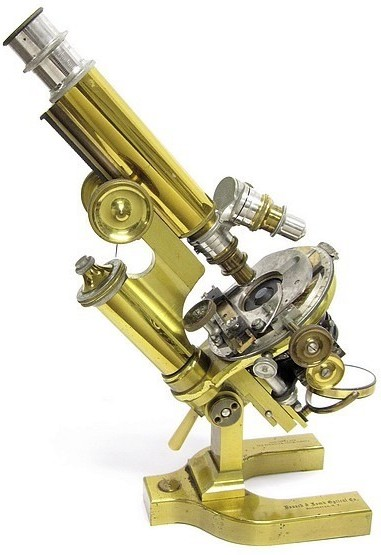 Bausch & Lomb Optical Co. Rochester NY, ,40018. The CCDS Continental Model Microscope, c. 1903