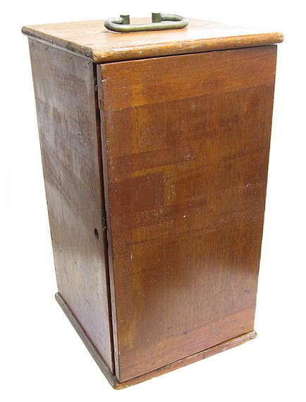Bausch & Lomb Optical Co. Rochester NY, ,40018. The CCDS Continental Model Microscope, c. 1903. Wood case.