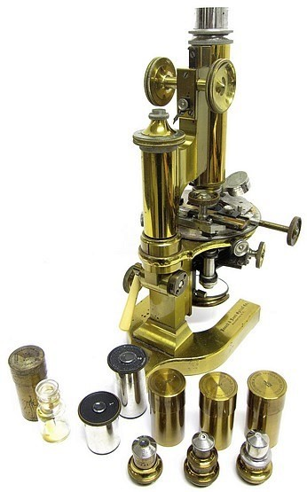 Bausch & Lomb Optical Co. Rochester NY, ,40018. The CCDS Continental Model Microscope, c. 1903. Accessories