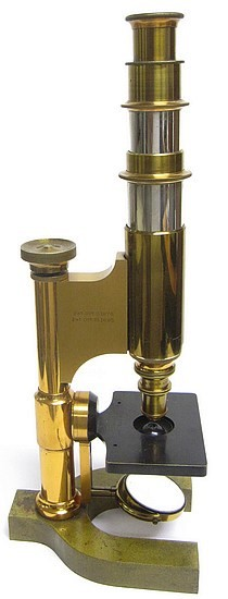 Bausch & Lomb Optical Co. Serial No. 5508.  The Harvard Model Microscope, c. 1888