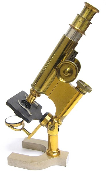 Bausch & Lomb Optical Co. The Harvard Model Microscope with inclination and rack and pinion